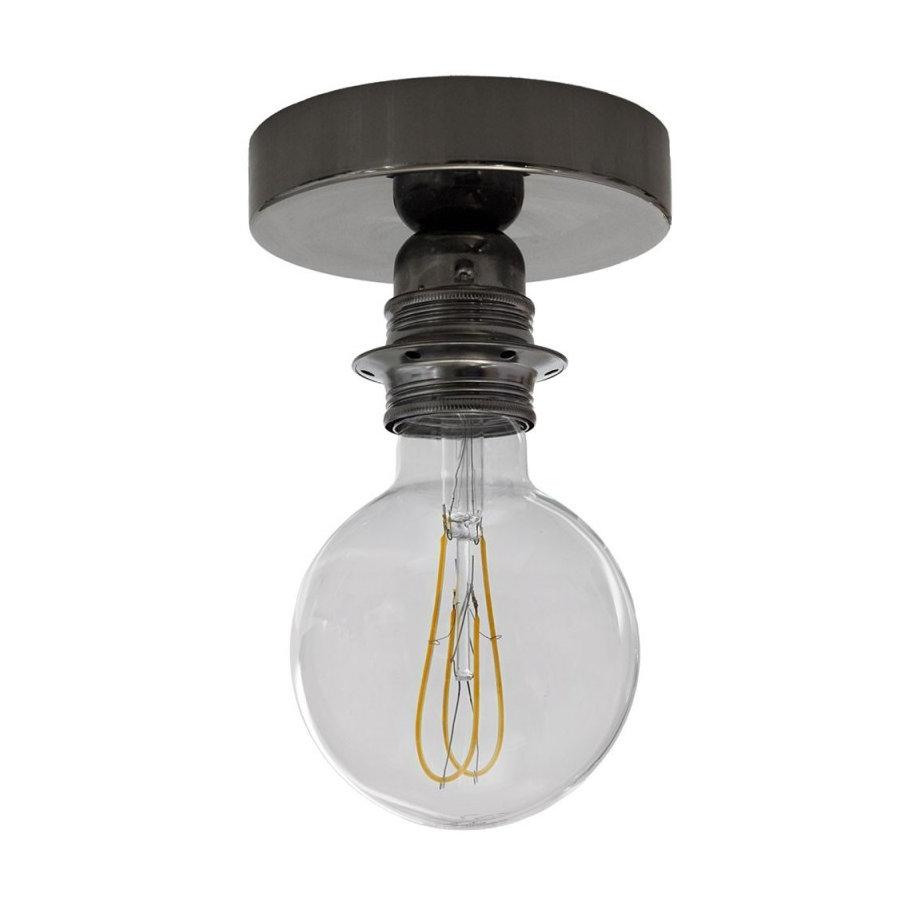 Kovové svietidlo na stenu alebo strop, možnosť pripojenia tienidla, perleťovo čierna (1)