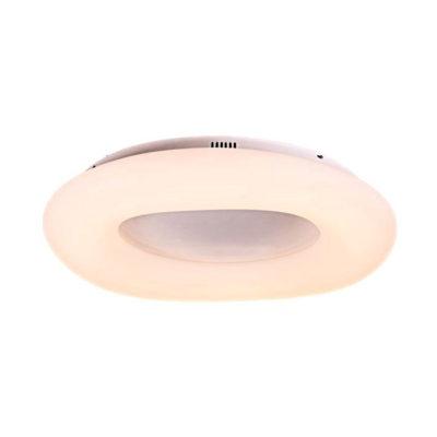 Okrúhly LED stropný luster, 80W, zmena farby, 75 x 12cm, stmievateľný - biela farba (2)