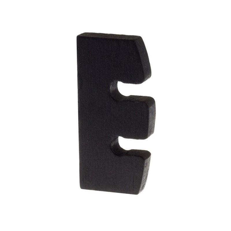 Drevený regulátor výšky závesného svietidla z prírodného dreva, čierna farba (2)