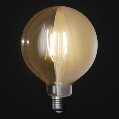 LED žiarovka Filament - Tattoo Lamp® Half, 4W, E27, 420lm (1)