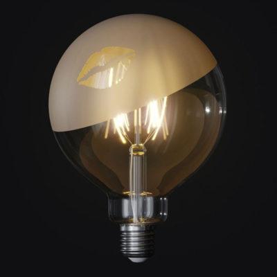 LED žiarovka Filament - Tattoo Lamp® Kiss, 4W, E27, 420lm (1)