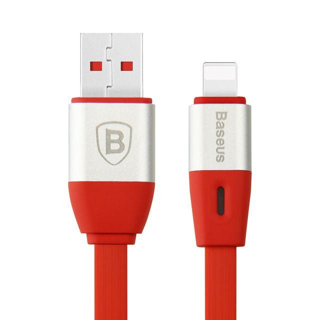 Lightning-inteligentný-nabíjací-kábel-BASEUS-100cm-červená-farba