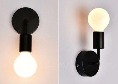 Nástenné svietidlo Deco v čiernej farbe je svietidlo určené na stenu v jednoduchom štýle. Svietidlo dodá vášmu domovu nádych harmónie (3)