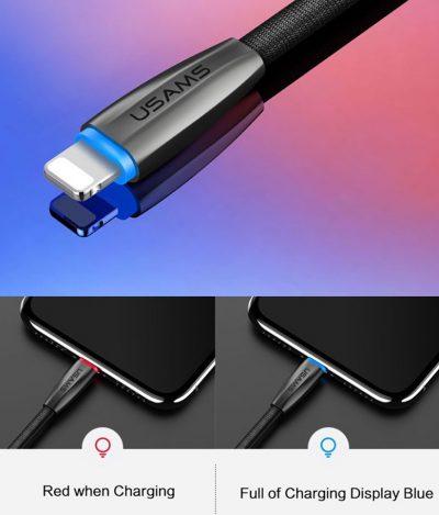 Odolný-lightning-nabíjací-kábel-s-LED-osvetlením-120cm-textilný