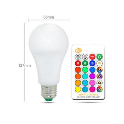 Pomocou diaľkového ovládača, ktorý je súčasťou balenia môžete meniť farbu svetla žiarovky, stmievať ju alebo si vybrať niektorý z efektov.