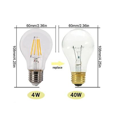 FILAMENT žiarovka - CLASSIC - E27, 4W, 320lm (1)