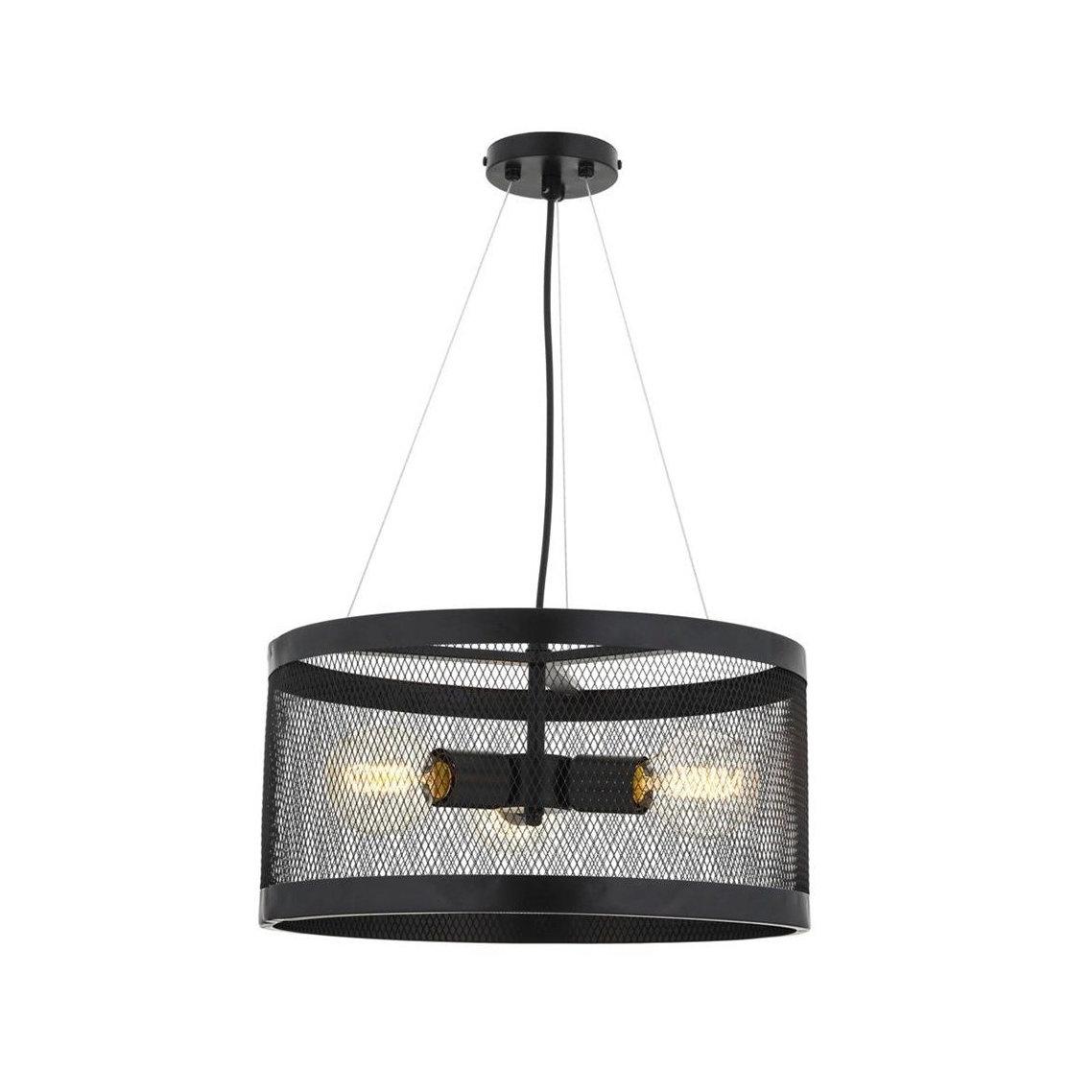 Historické svietidlo závesné s klietkou na 3 x E27 žiarovky.Nesie sa interiér vášho domova, chalupy, reštaurácie alebo hotela vhistorickomduchu (2)
