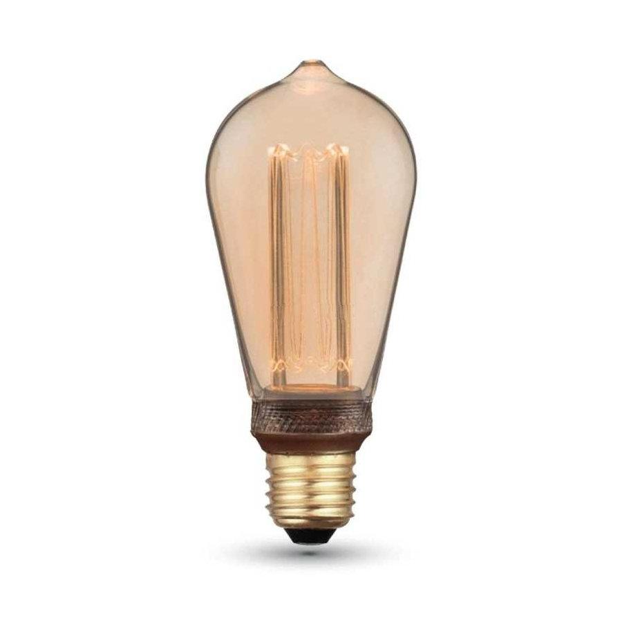 Dekoračná FILAMENT žiarovka - TEARDROP - E27, Teplá biela, 4W, 200lm