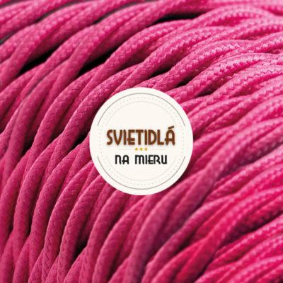Kábel dvojžilový skrútený v podobe textilnej šnúry v tmavo ružovej farbe farbe, 2 x 0.75mm, 1 meter (1)