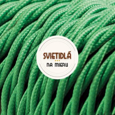 Kábel dvojžilový skrútený v podobe textilnej šnúry v tmavo zelenej farbe, 2 x 0.75mm, 1 meter (2)