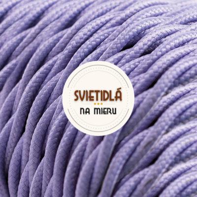 Kábel dvojžilový skrútený v podobe textilnej šnúry vo svetlo fialovej farbe, 2 x 0.75mm, 1 meter (2)