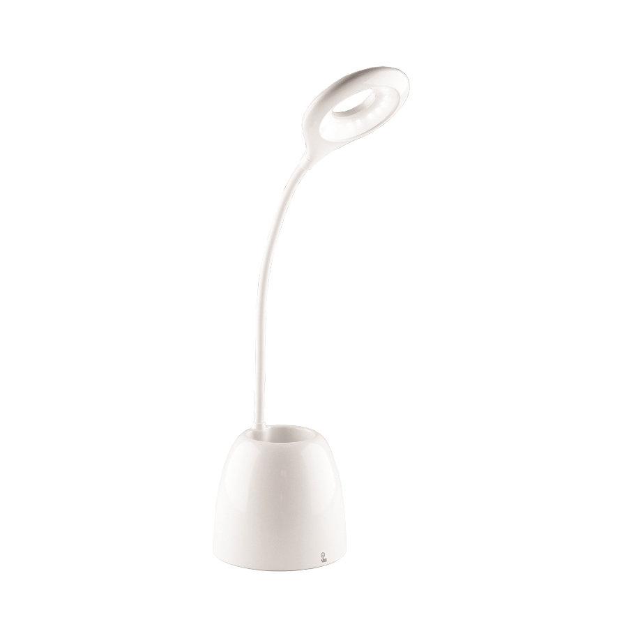 Stolná LED RGB lampa s odkladacím priestorom, 4W, 250lm, biela farba (1)