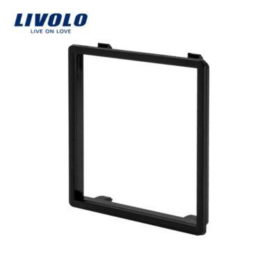 Dekoratívny rámik pre zásuvky a vypínače LIVOLO v čiernej farbe