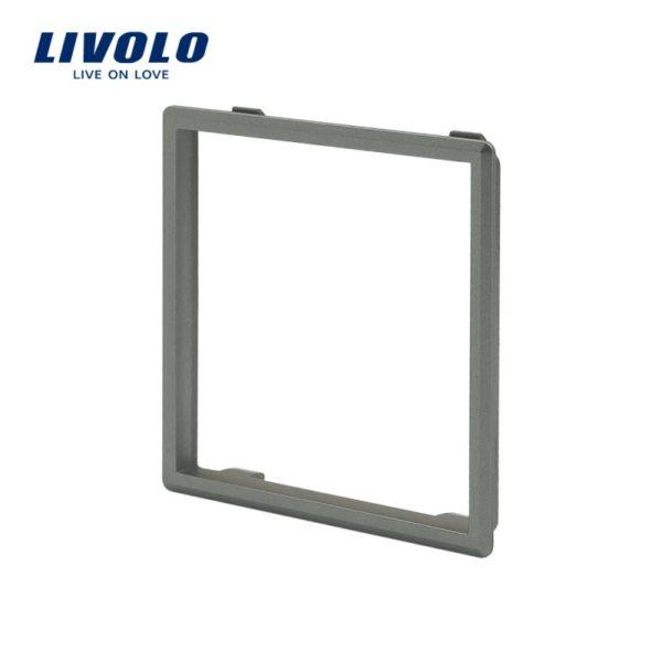 Dekoratívny rámik pre zásuvky a vypínače LIVOLO v striebornej farbeDekoratívny rámik pre zásuvky a vypínače LIVOLO v striebornej farbe