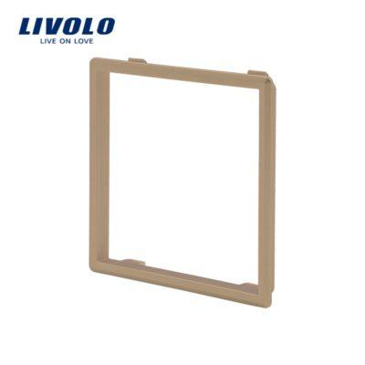 Dekoratívny rámik pre zásuvky a vypínače LIVOLO v zlatej farbe
