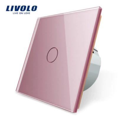 Elegantný dotykový vypínač č.1 v ružovom prevedení