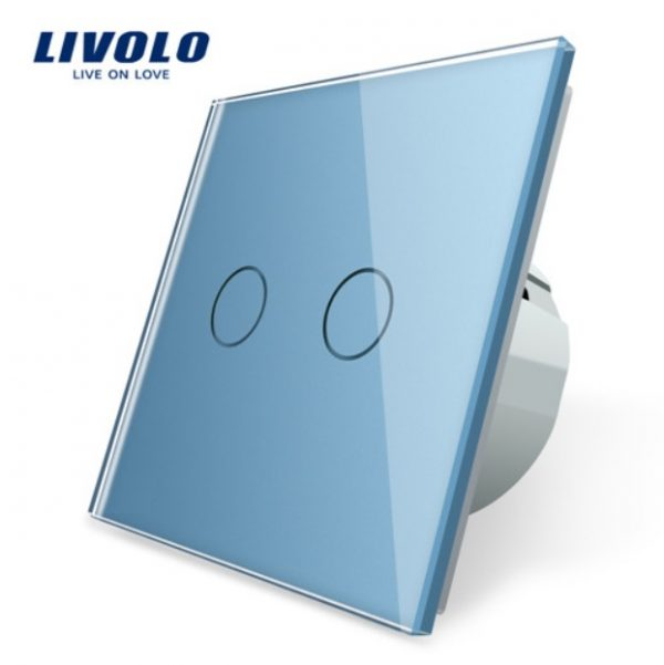 Elegantný dotykový vypínač č.5 v modrom prevedení