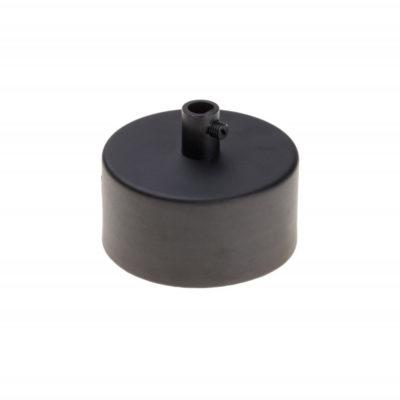 Kovová stropná rozeta MINI, čierna farba (2)