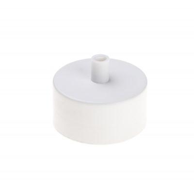Kovová stropná rozeta MINI, biela farba