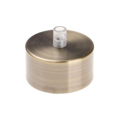 Kovová stropná rozeta MINI, niklová farba (2)