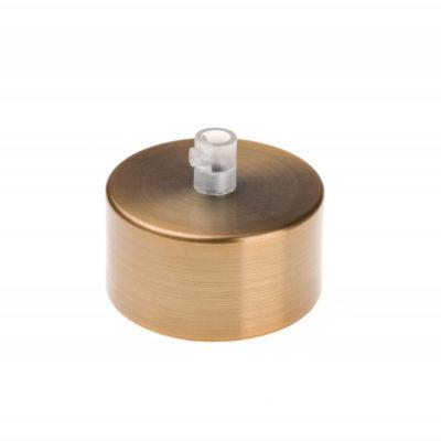 Kovová stropná rozeta MINI, staromedená farba (2)