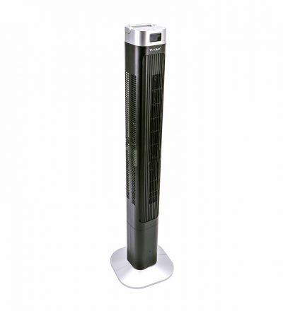 LED stĺpový ventilátor V-TAC s ukazovateľom teploty a ďialkovým ovládaním, 120cm, 55W, Čierna farba