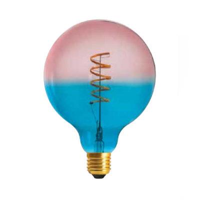 Edison Soft žiarovka BLUE-PINK SPHERE - E27, 4W, 150lm, Stmievateľná (2)
