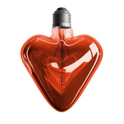 Edison Soft žiarovka RED HEART, E27, 150lm, 5W, Teplá biela, stmievateľná (1)