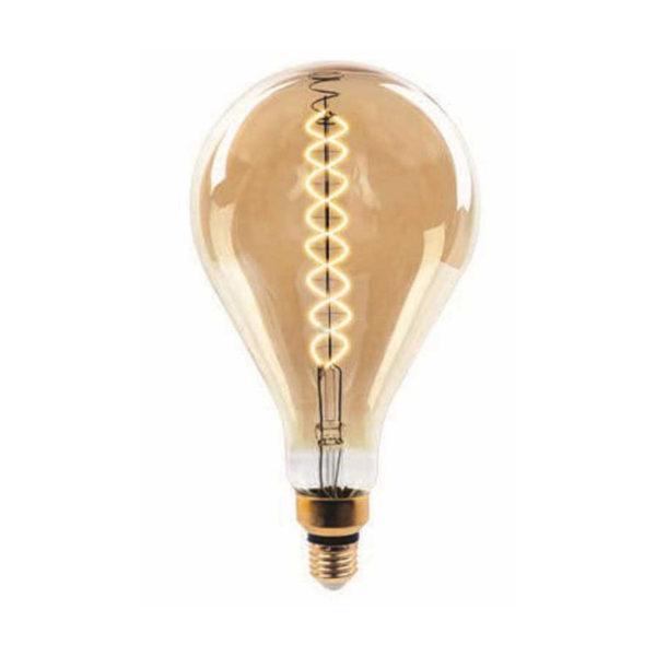 Edison Soft Filament žiarovka, XXL SPIRAL - 8W, E27, 500lm