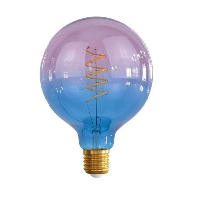Edison Soft žiarovka BLUE-PINK SPHERE – E27, 4W, 150lm, Stmievateľná