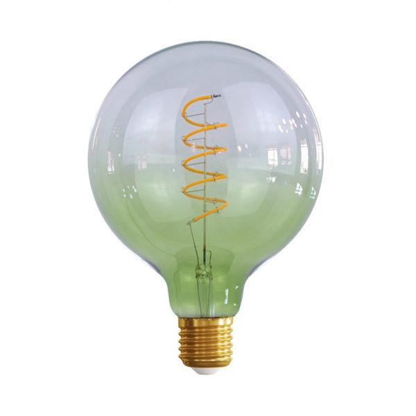 Edison Soft žiarovka GREEN-TRANSPARENT SPHERE – E27, 4W, 150lm, Stmievateľná | Daylight Italia