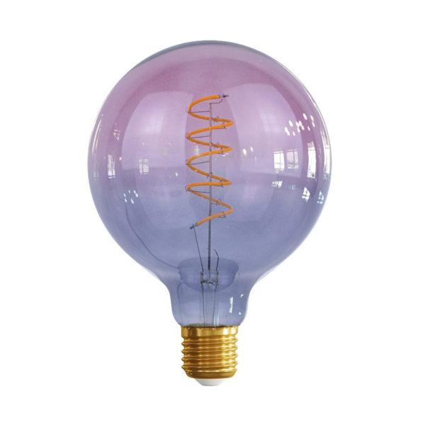 Edison Soft žiarovka GREY-PINK SPHERE – E27, 4W, 150lm, Stmievateľná
