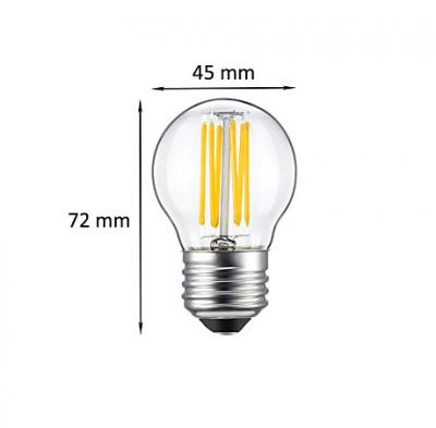 FILAMENT žiarovka - MINI CLASSIC - E27, 4W, 320lm, Teplá biela