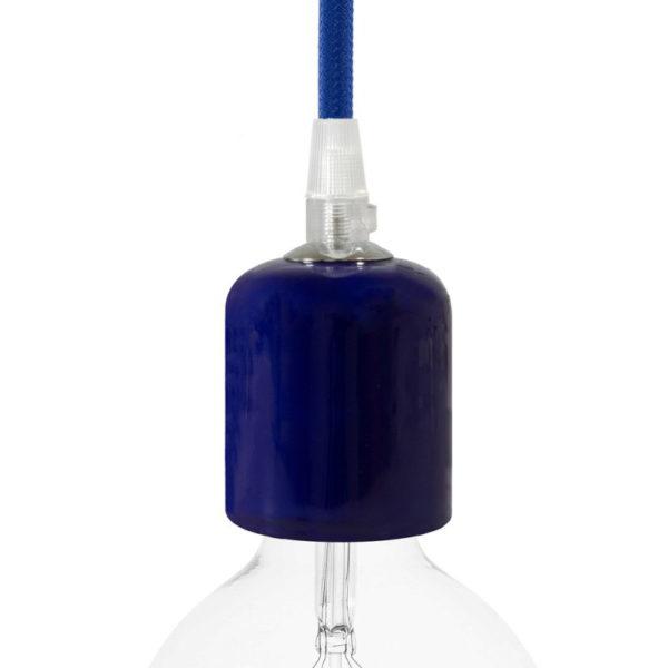 Handmade keramická objímka s príslušenstvom v modrej farbe