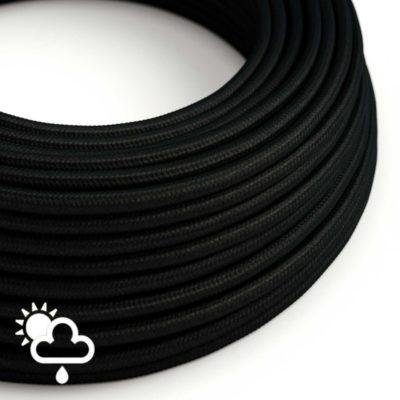 Kábel do exteriéru trojžilový v podobe textilnej šnúry v čiernej farbe, 3 x 0.75mm, 1 meter