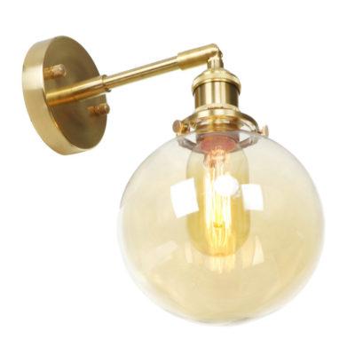 Sklenené nástenné svietidlo GOLD MOON v zlatej farbe