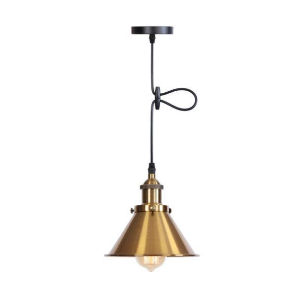 Svietidlo DECOR s nastaviteľnou výškou kábla v zlatej farbe