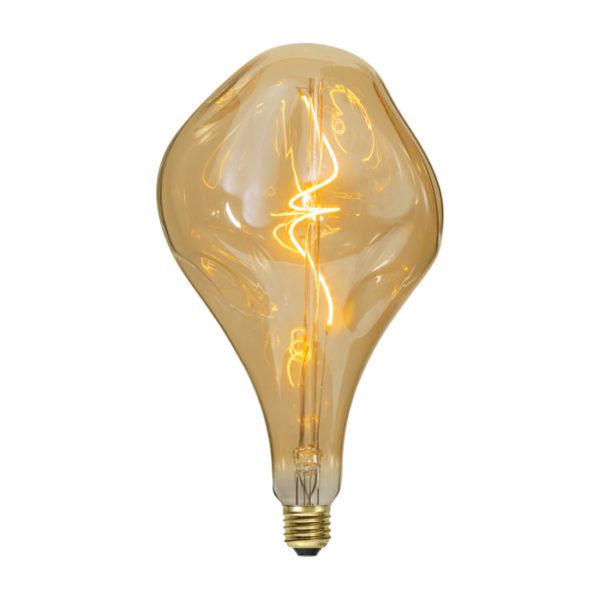 Vintage Filament žiarovka ELEGANCE, zlatá - 5W, E27, 250lm, Stmievateľná, Teplá biela
