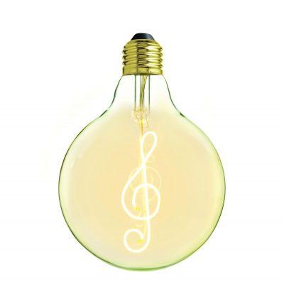 Edison Soft žiarovka pre závesné lampy, Note, E27, 130lm, 4W, Teplá biela, stmievateľná