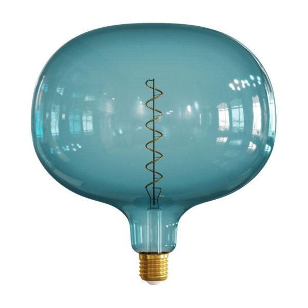 Farebná LED žiarovka OCEAN-BLUE COBBLE - E27, 4W, 100lm, Stmievateľná