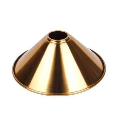 Hlboké kovové tienidlo v lesklej zlatej farbe, priemer 22cm