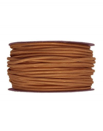 Kábel dvojžilový v podobe textilnej šnúry vo Whiskey farbe, 2 x 0.75mm, 1 meter