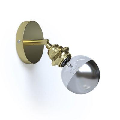 Kovové nastaviteľné svietidlo na stenu alebo strop, možnosť pripojenia tienidla, zlatá farba-