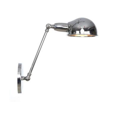 Retro nástenná lampa Side20 v striebornej farbe