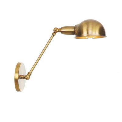 Retro nástenná lampa Side20 v zlatej farbe