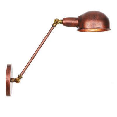 Retro nástenná lampa Side30 v staro medenej farbe