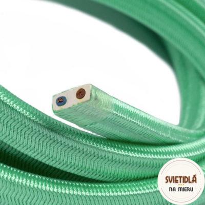 Textilný elektrický kábel pre Svetelné reťaze potiahnutý hodvábnou textíliou v opálovej farbe