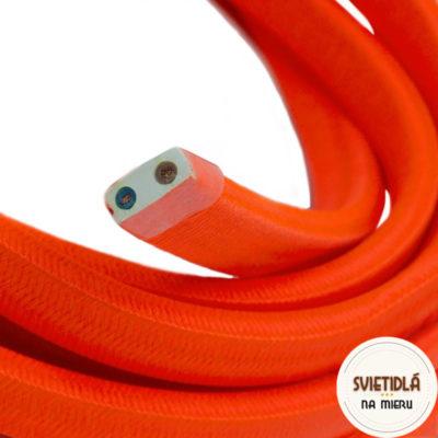 Textilný elektrický kábel pre Svetelné reťaze potiahnutý hodvábnou textíliou v oranžovej farbe