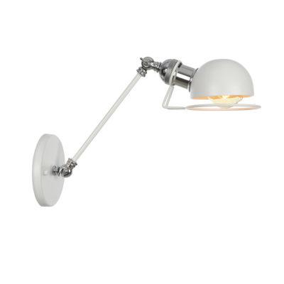 Vintage nástenná lampa Masel20 v bielej farbe