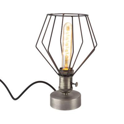 Handmade stolová historická lampa TITANIUM s otočným spínačom